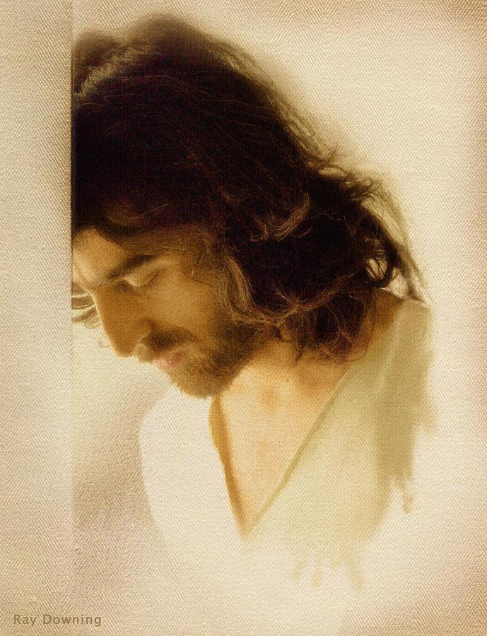 Jesus Digital Art - Jesus Praying by Ray Downing