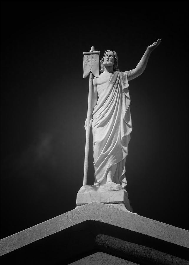Saint Photograph - Jesus St Louis Cemetery No 3 New Orleans by Christine Till