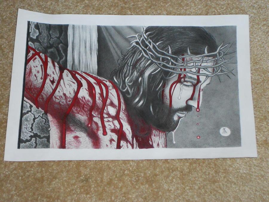 Jesus Drawing - Jesus by Steve Keiper