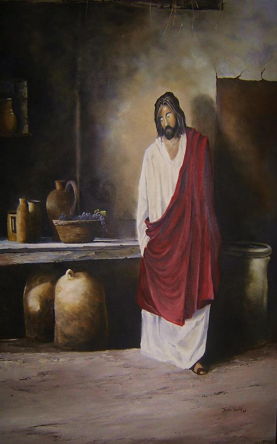 Jesus Painting - Jesus- The First Miracle- by James Neeley