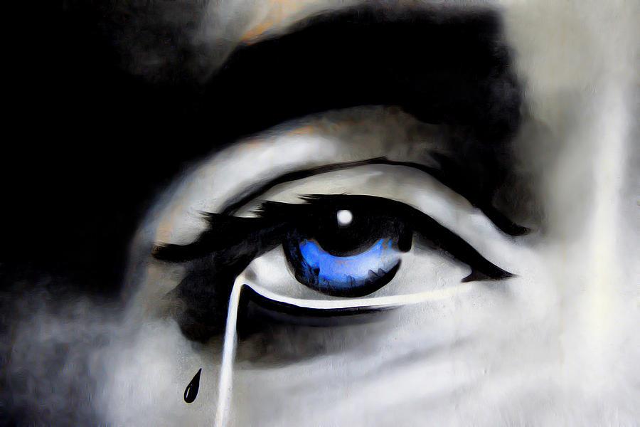 Jesus Photograph - Tear Drop by Nadine Lewis