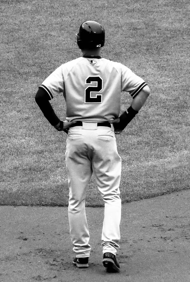 Jeter Photograph - Jeter 2 Bw Edit by Stephen Melcher