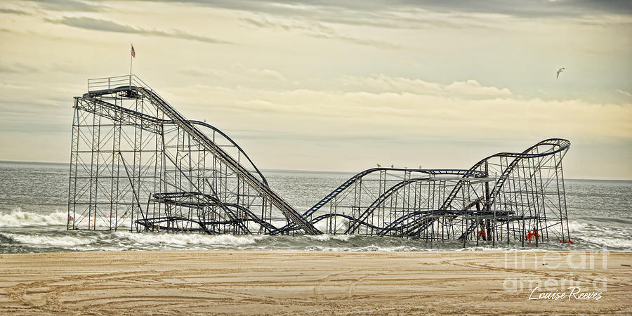 Roller Coaster Photograph - Jetstar by Louise Reeves