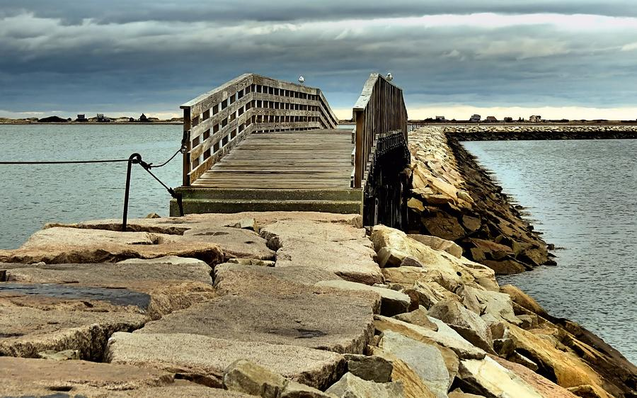 Jetty Photograph - Jetty Bridge by Janice Drew