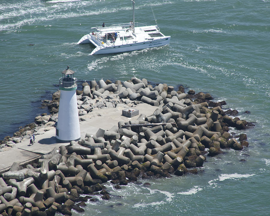 Lighthouse Photograph - Jetty Lighthouse by Neal Martin