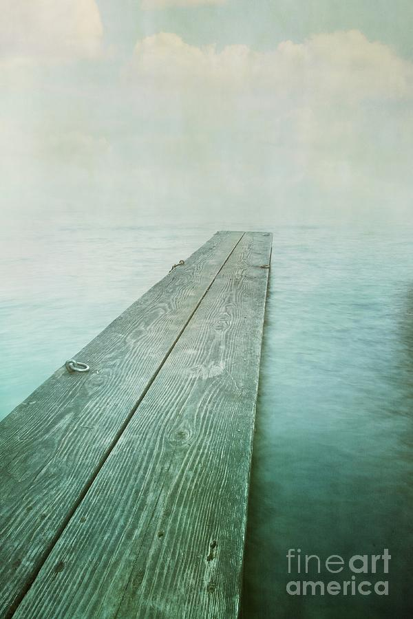 Photomanipulation Photograph - Jetty by Priska Wettstein