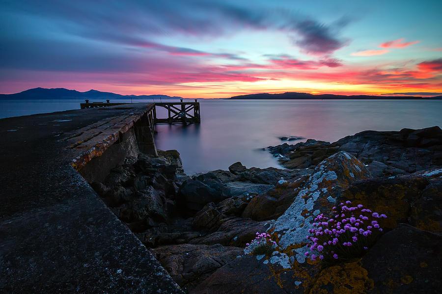 Sunset Photograph - Jetty Sunset 2 by Fiona Messenger