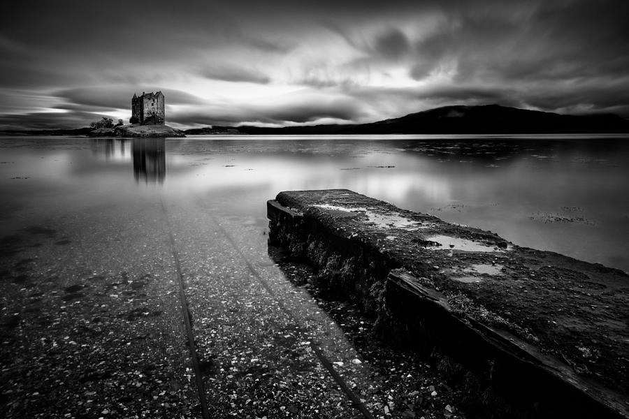 Castle Stalker Photograph - Jetty To Castle Stalker by Dave Bowman