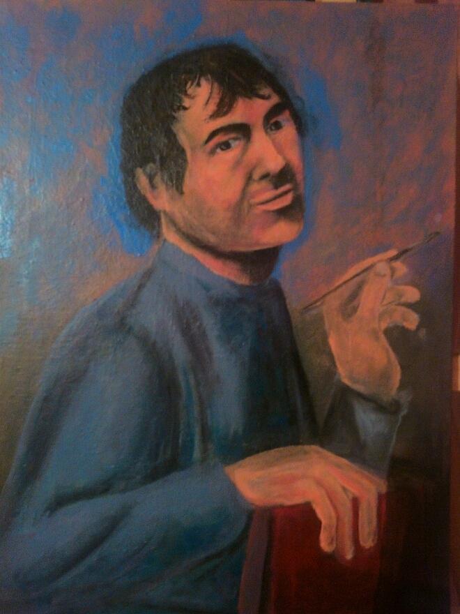 Religion Painting - Jevandjelist Luka by Lazar Caran