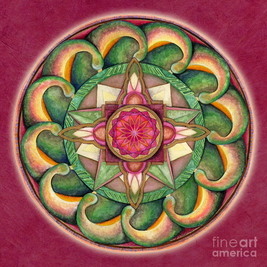 Jewel of the Heart Mandala by Jo Thomas Blaine