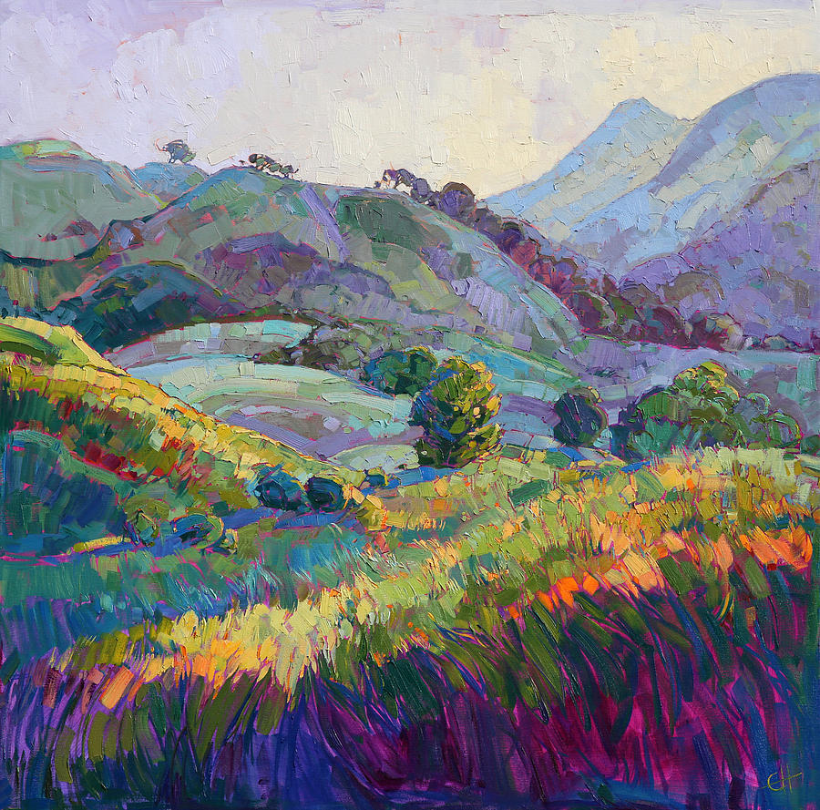 Paso Robles Painting - Jeweled Hills by Erin Hanson