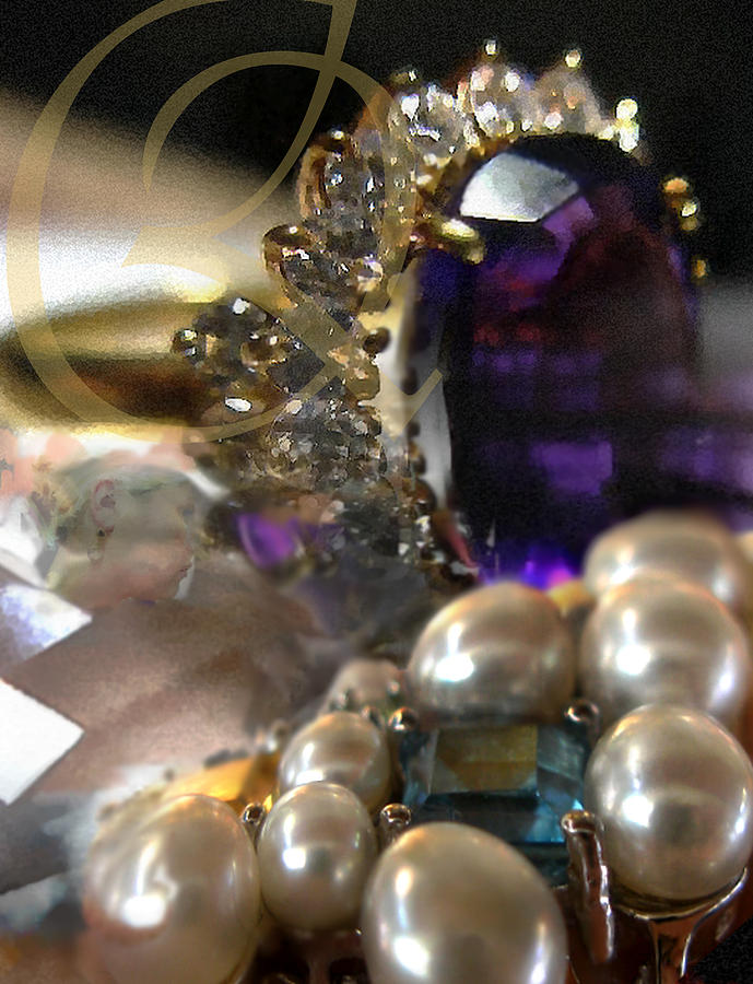 Diamonds Photograph - Jewels Artwork Of The Gods by Judy Paleologos