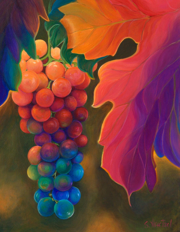 Multi-colored Painting - Jewels of the Vine by Sandi Whetzel