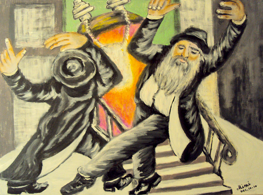 Jewish Symbol Painting - Jewish Holiday  by Mimi Eskenazi