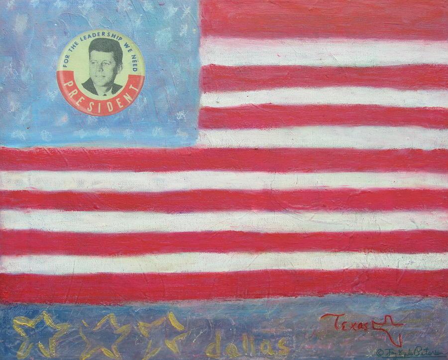Jfk Painting - Jfk Americana by Jay Kyle Petersen