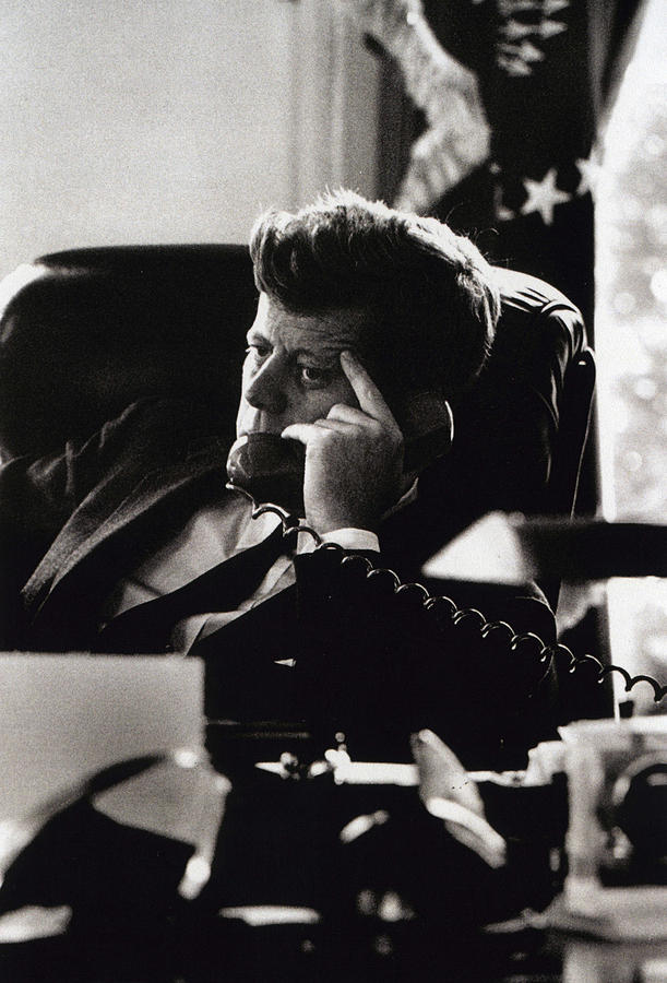 President Photograph - John F. Kennedy By Arthur Rickerby by Retro Images Archive
