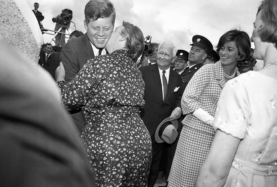 John F. Kennedy Photograph - Jfk Meets His Cousin Mary Ryan In Ireland by Irish Photo Archive