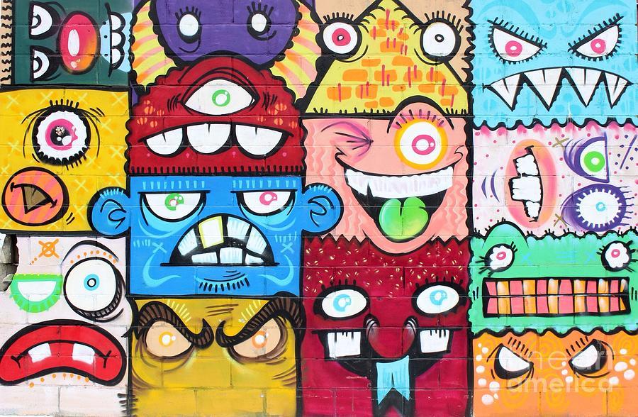 Graffiti Photograph - Jigsaw Puzzle by Angie Gonzalez