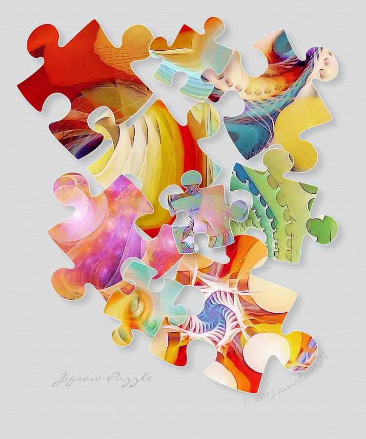 Puzzle Digital Art - Jigsaw Puzzle by Gayle Odsather
