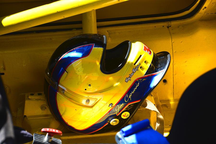 Porsche Photograph - Jim Ciprianos Helmet by Mike Martin