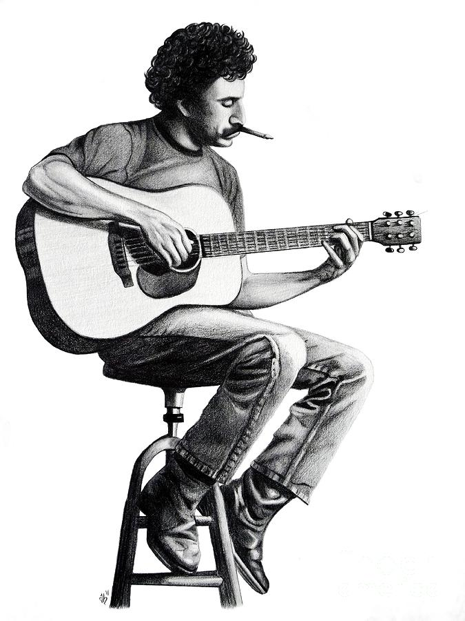 Drawing Drawing - Jim Croce by Danielle R T Haney