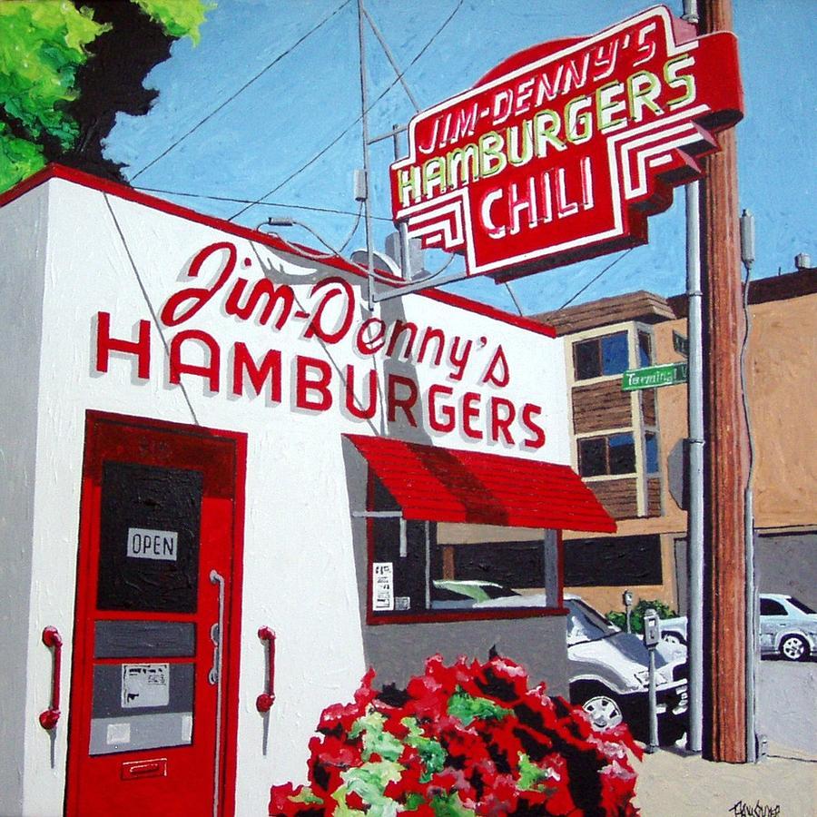 Sacramento Painting - Jim-dennys No. 4 by Paul Guyer