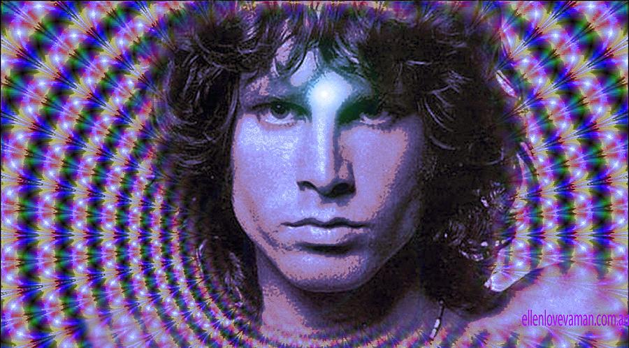 Jim Morrison Digital Art By Ellen Vaman