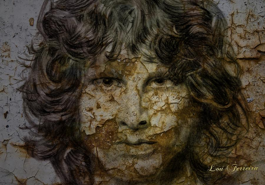 Jim Morrison Digital Art - Jim Morrison by Louis Ferreira