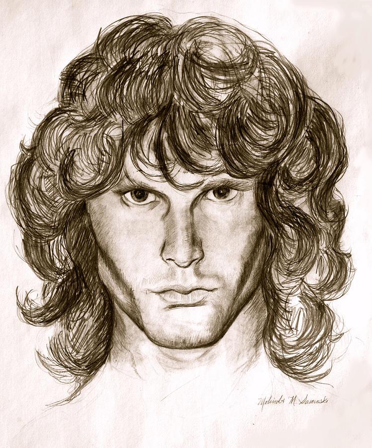 Jim Morrison Painting - Jim Morrison by Melinda Saminski