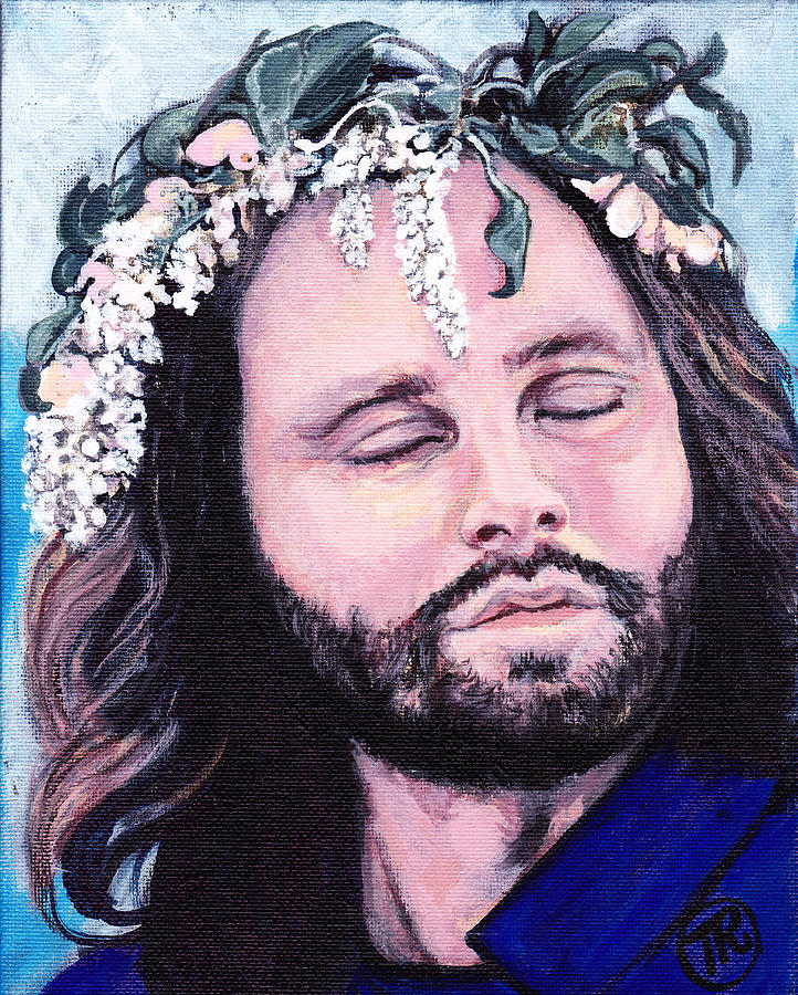 Jim Morrison Painting By Tom Roderick