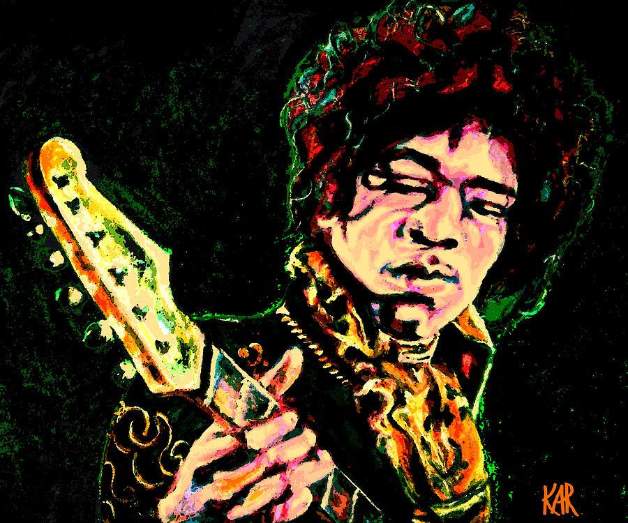 Jimi Hendrix Painting - Jimi Hendrix Digital Piece by Art by Kar