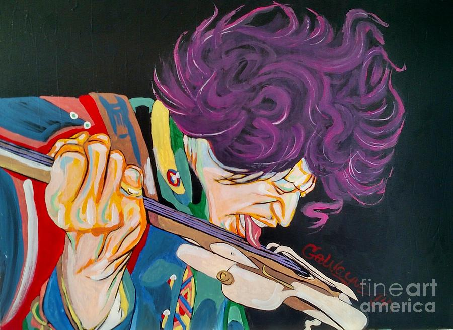 Posters Painting - Jimi Hendrix by Nathaniel Gawayne Sutton
