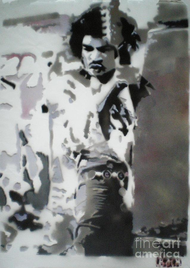 Jimi Hendrix Painting - Jimi Hendrix  On Plexiglass by Barry Boom