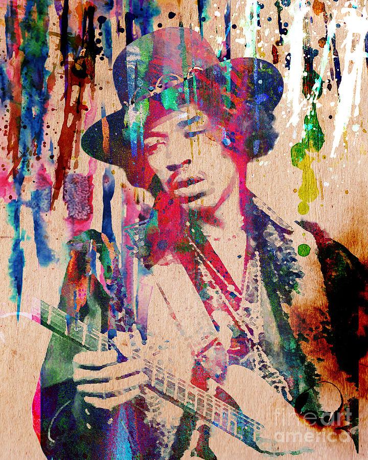 Rock N Roll Painting - Jimi Hendrix Original by Ryan Rock Artist
