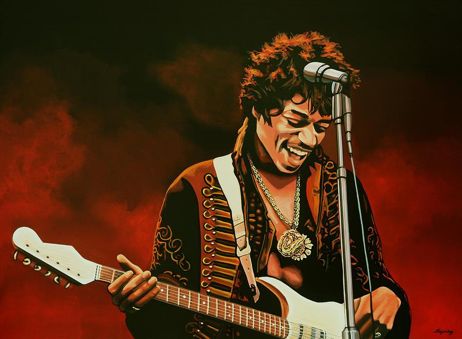 Jimi Hendrix Painting - Jimi Hendrix Painting by Paul Meijering