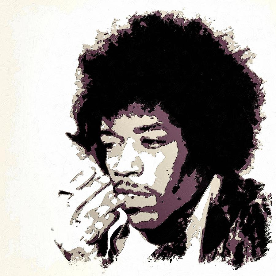Jimi Hendrix Poster Art Painting By Florian Rodarte