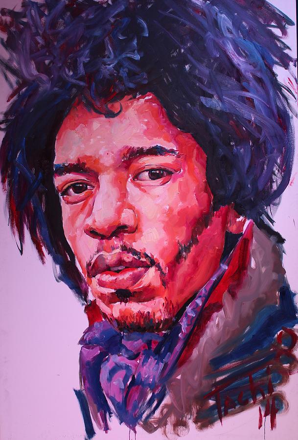 Jimi Hendrix by Tachi Pintor
