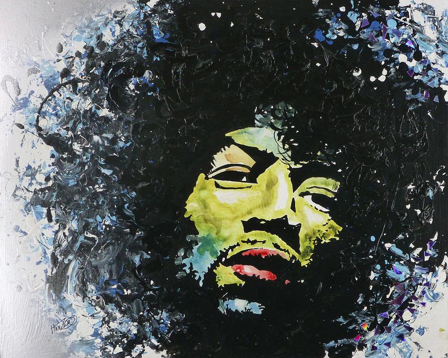 Susco Painting - Jimi by Jack Hanzer Susco
