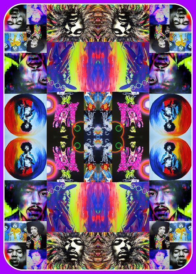 Jimi Hendrix Painting - Jimi Kaleidoscope I by Christian Chapman Art