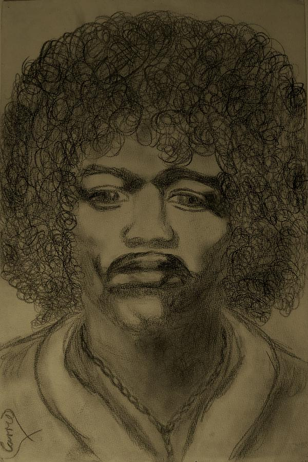 Jimmy Hendricks Drawing - Jimmy 68 by Carrie Viscome Skinner