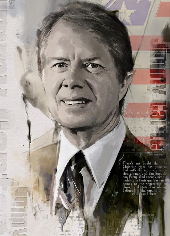 Jimmy Carter Painting - Jimmy Carter by Corporate Art Task Force