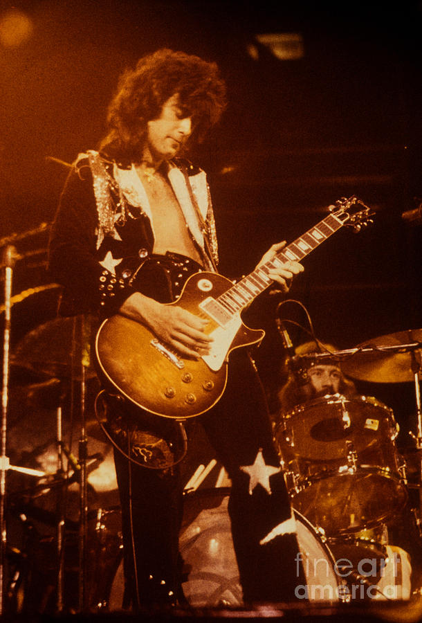 Jimmy Page 1975 Photograph By David Plastik