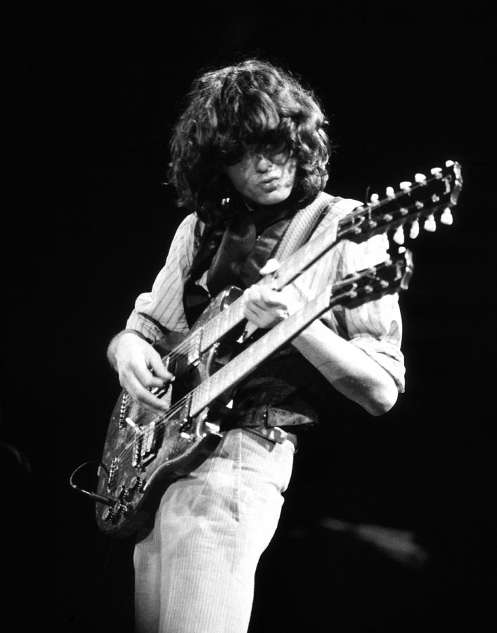 Iphone wallpaper los angeles - Jimmy Page 1983 Photograph By Chris Walter