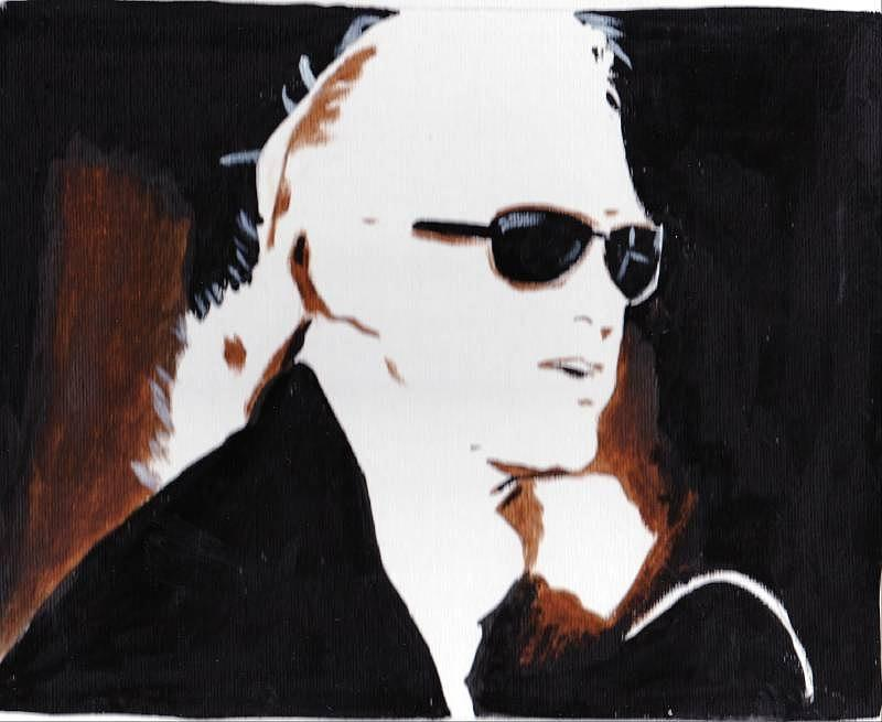 Jimmy Page 2 Painting by Audrey Pollitt