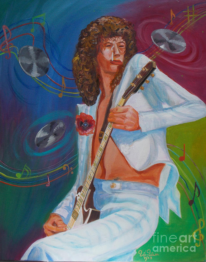 Jimmy Page Painting - Jimmy Page 2 by To-Tam Gerwe