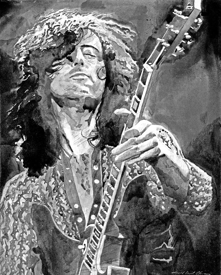 Jimmy Page Mono Painting