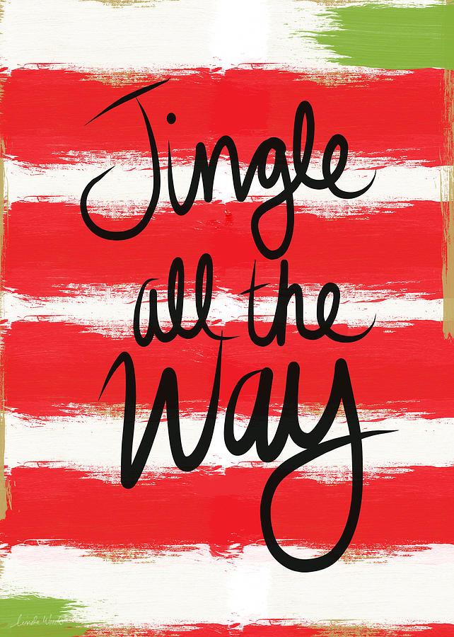 Jingle All The Way- Greeting Card Mixed Media
