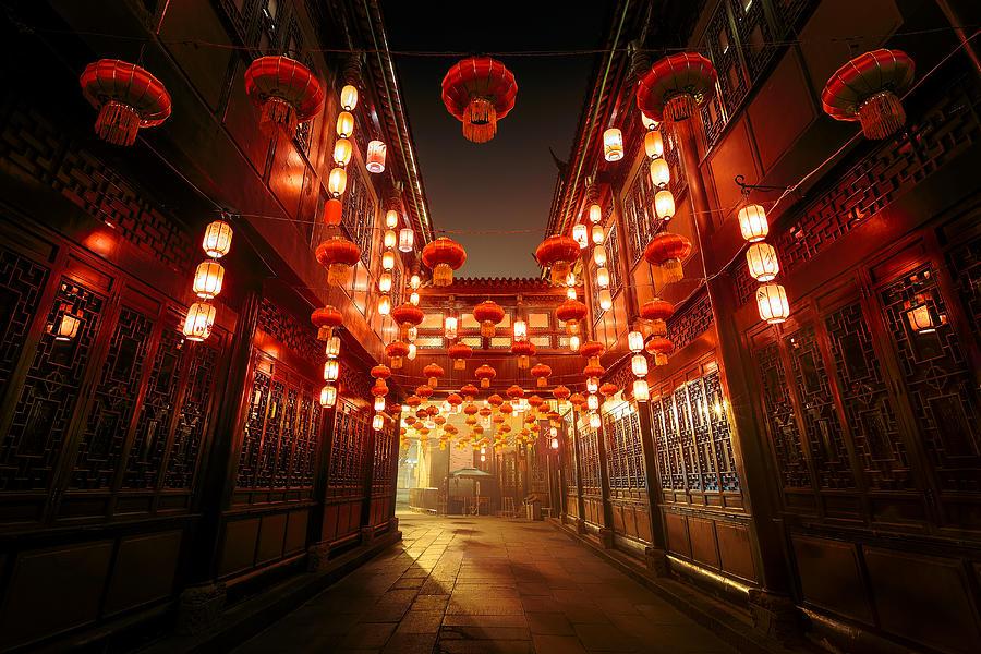 Jinli Street, Chengdu, Sichuan, China Photograph by Kiszon Pascal