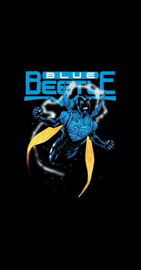 Jla - Blue Beetle Digital Art by Brand A
