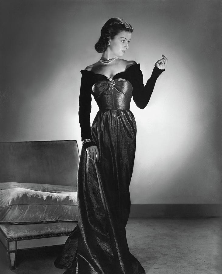 Joan Bennett Wearing A Velvet Dress By Horst P Horst